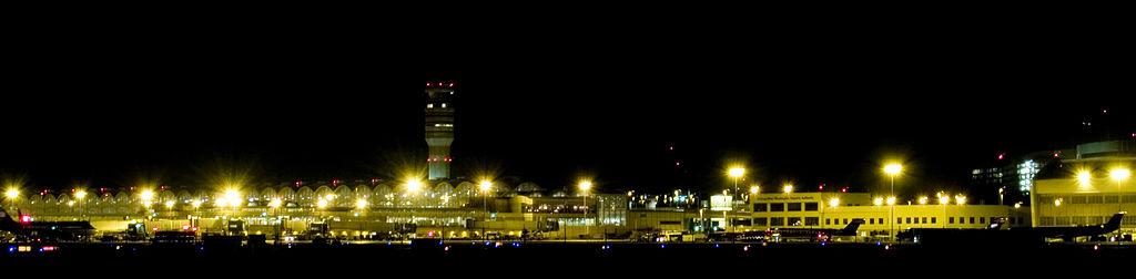 Washington National Airport at night