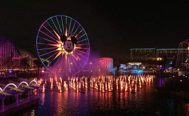 California Adventure light show