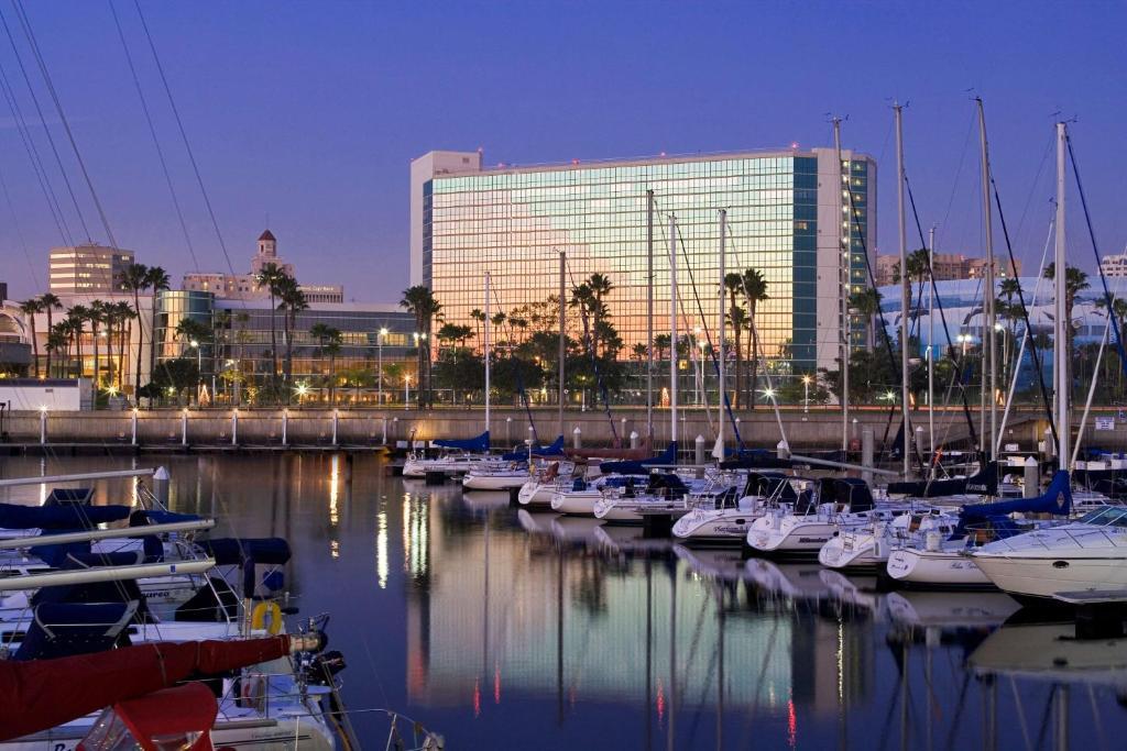 The Hyatt Regency Long Beach, one of numerous hotels in Long Beach, CA