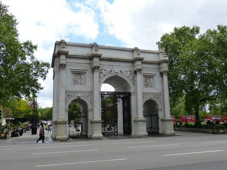 The Marble Arch in London.