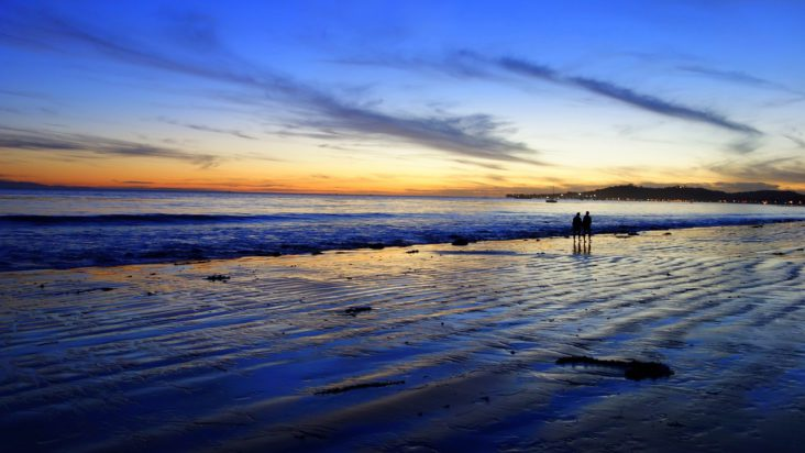 Santa Barbara Beach at sunset.