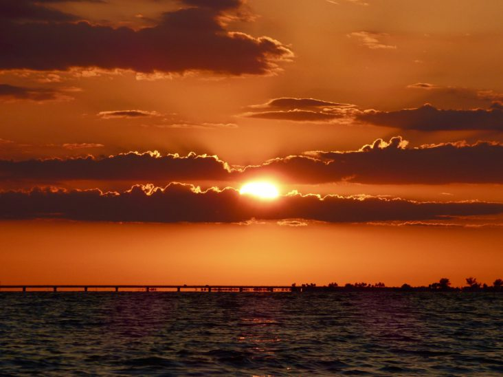 Sunset over Fort Myers Beach
