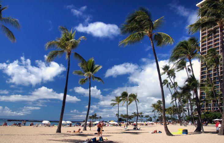 Waikiki Beach in Honolulu.