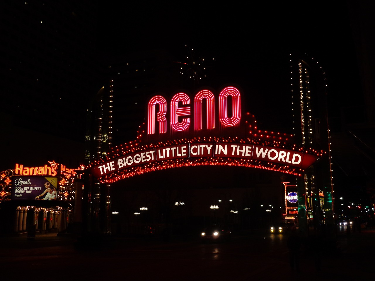 Reno welcome sign.