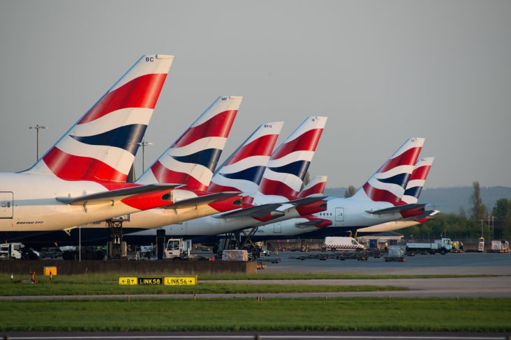 British Airways jets at Heathrow.