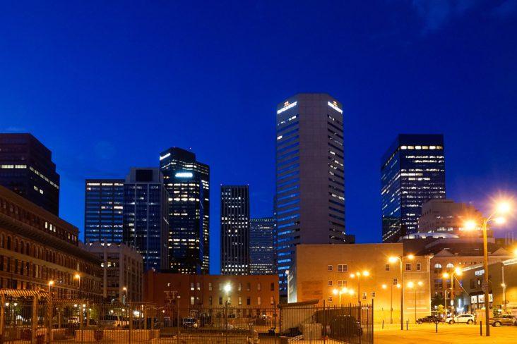 Denver skyscrapers.