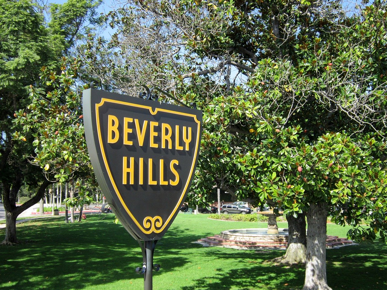 A park in Beverly Hills, CA.