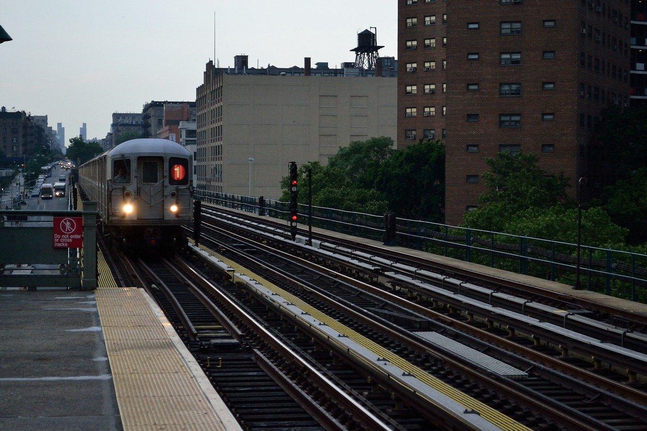 Subway Train in NYC.