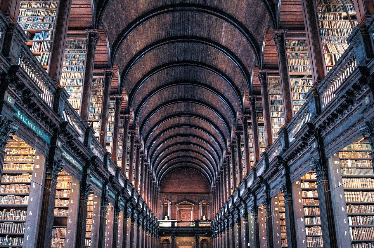 Trinity College Library in Dublin.