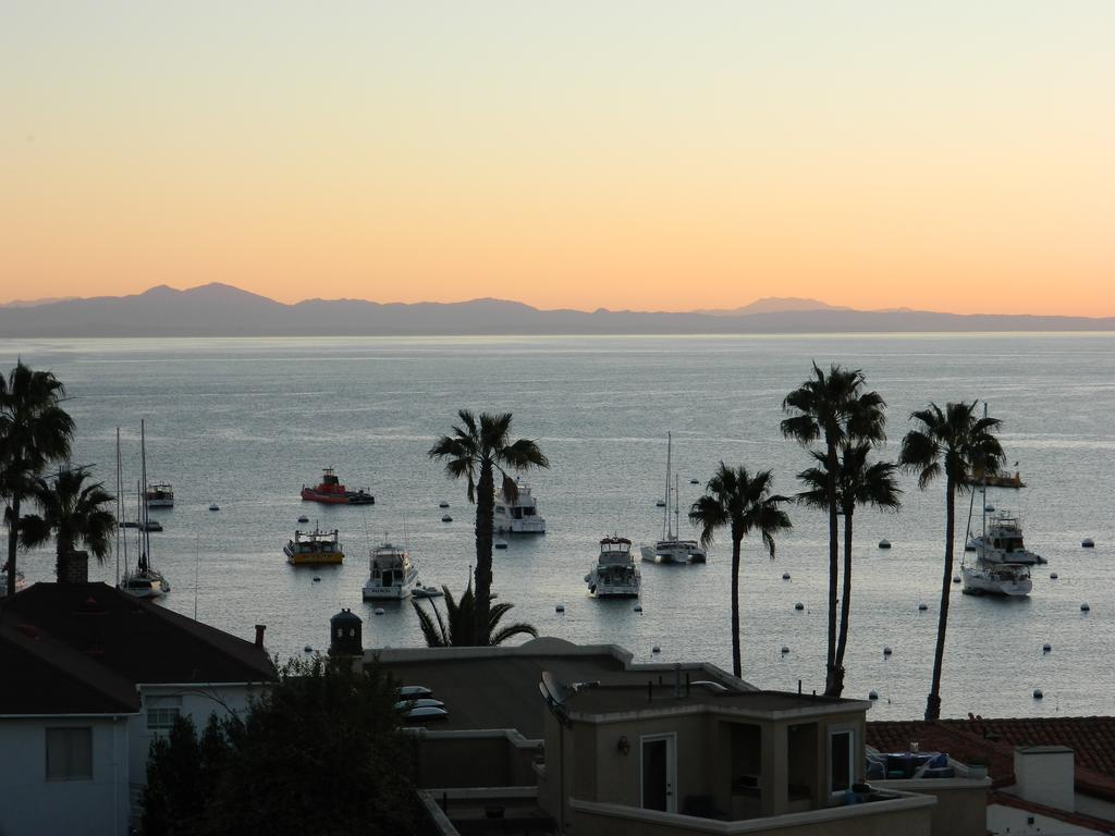A view from the Aurora Hotel, one of the hotels in Avalon, CA.