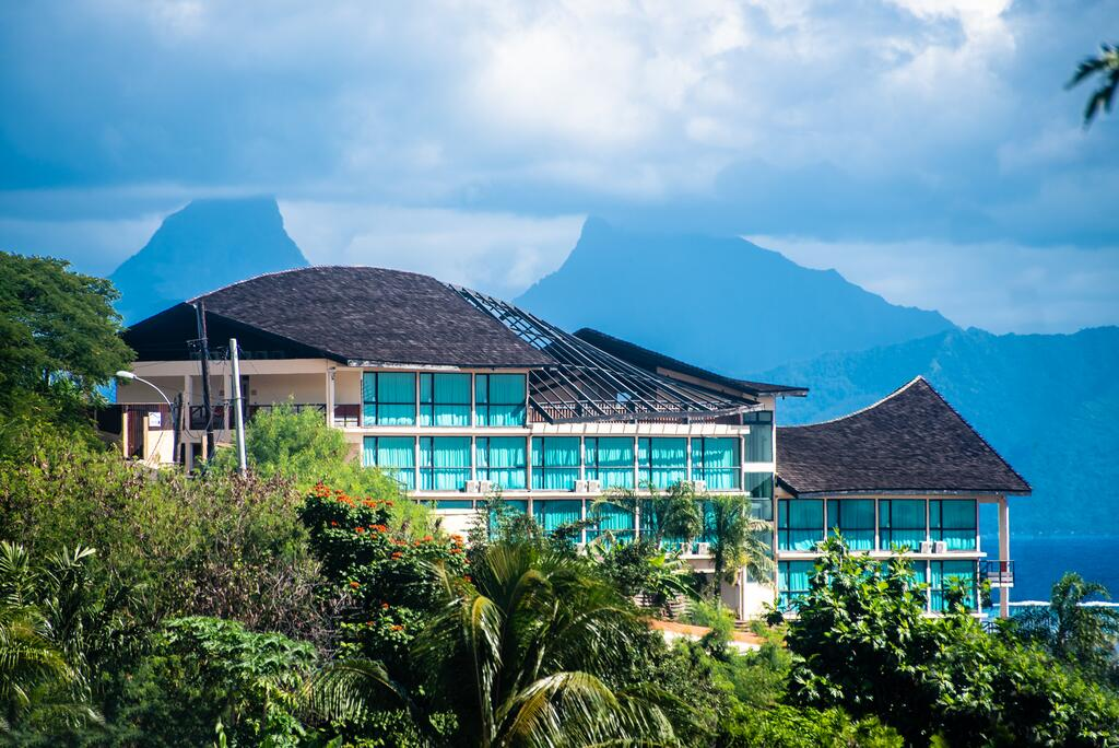 The Tahiti Airport Motel, one of the hotels near Papeete Airport.