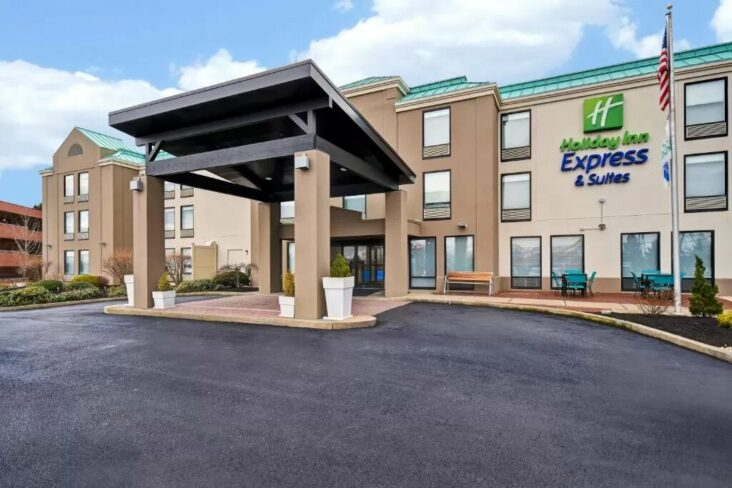 The Holiday Inn Express & Suites Allentown Dorney Park Area, one of the hotels near Cedar Crest College.