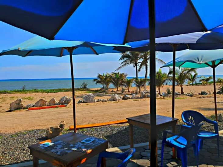 The private beach at the Villa Star of the Sea, one of the hotels near Playa de Oro Airport.