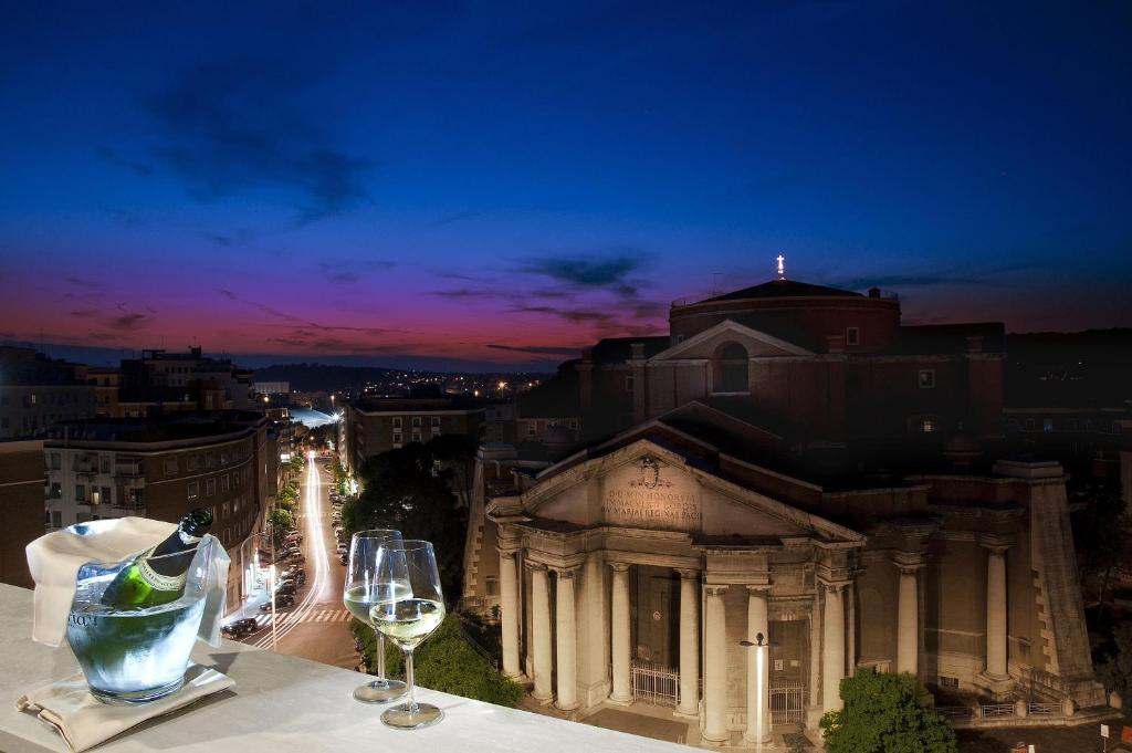 The view from the Radisson Blu GHR Rome, one of the best hotels in Rome, Italy.