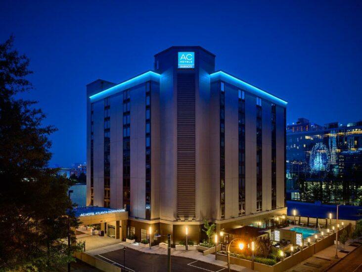 The AC Hotel Atlanta Downtown, one of the hotels near the World of Coca Cola in Atlanta, GA.