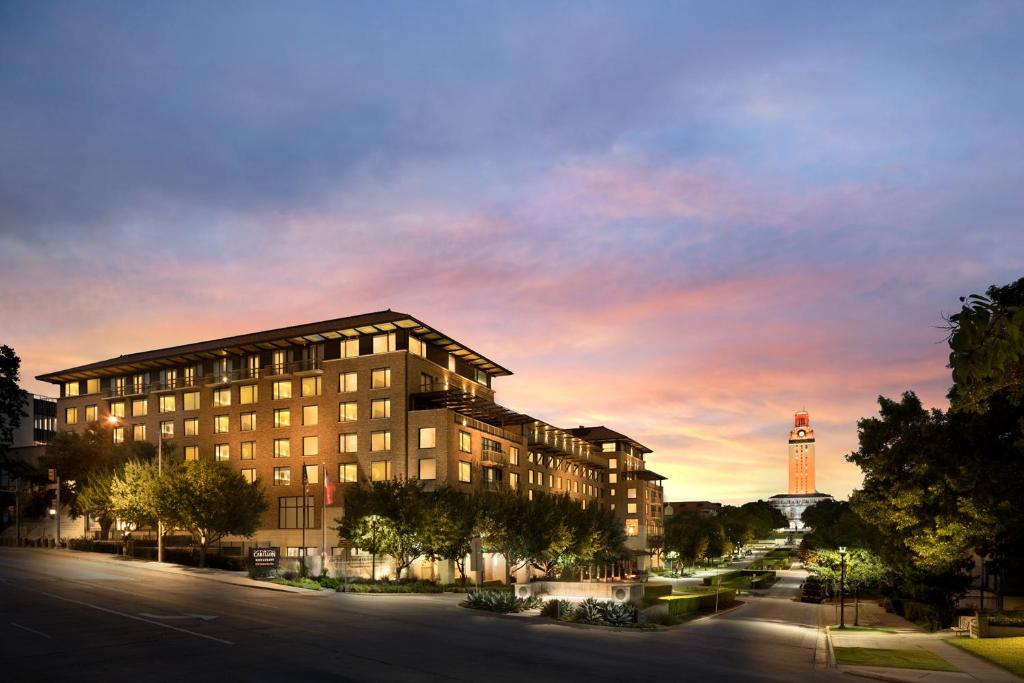 The AT & T Hotel and Conference Center, one of the hotels near UT Austin.