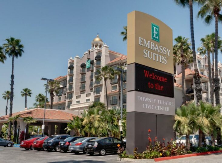 The Embassy Suites Los Angeles - Downey, one of numerous hotels in Downey, CA.
