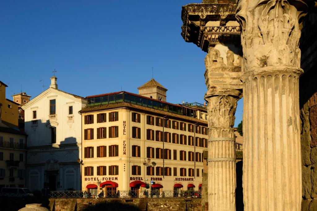 The Hotel Forum, one of the hotels near the Roman Forum in Rome, Italy.