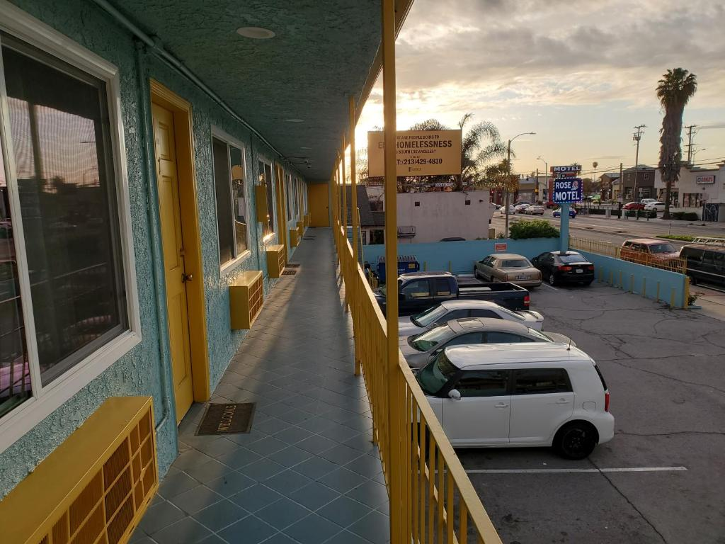The Rose Motel, the only hotel in Compton, California.
