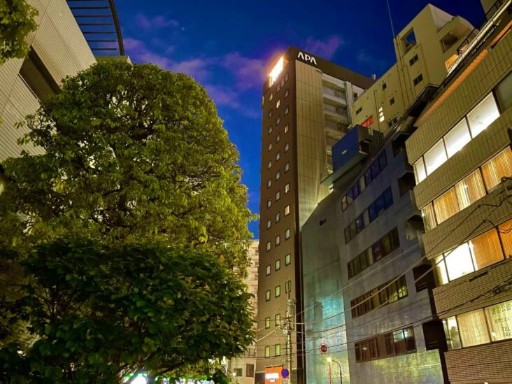 The APA Hotel Mita-Ekimae, one of the hotels near Keio University.