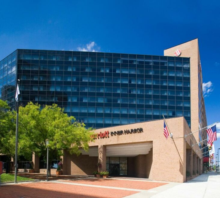 The Baltimore Marriott Inner Harbor at Camden Yards, one of the hotels near the University of Maryland, Baltimore