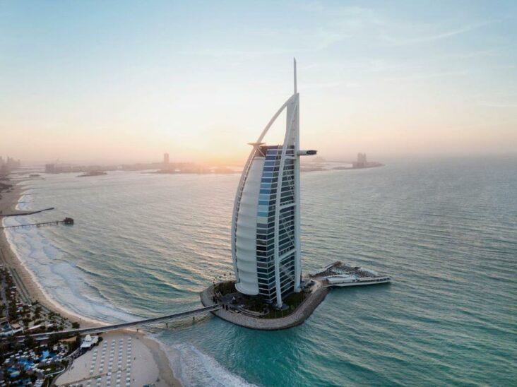 The Burj Al Arab Jumeirah, one of the most famous hotels in Dubai. UAE
