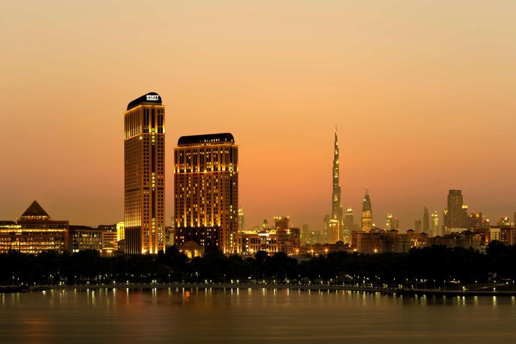 The Hyatt Regency Dubai Creek Heights, one of the hotels near Dubai Creek Park in the UAE.