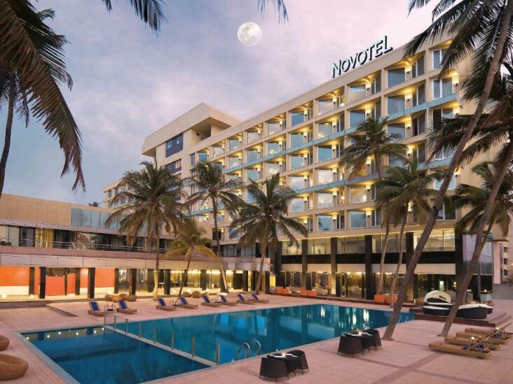 The Novotel Mumbai Juhu Beach, one of the beachfront hotels in Juhu Beach.s