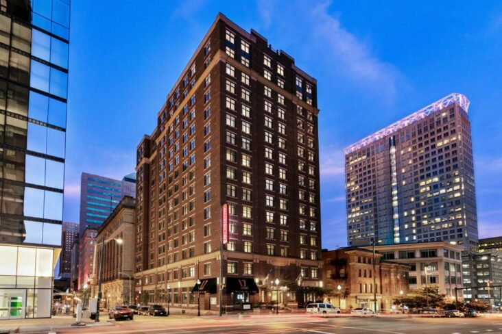 The Residence Inn by Marriott Baltimore Downtown Inner Harbor, one of numerous hotels in downtown Baltimore.