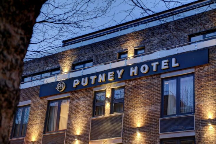 The Putney Hotel, one of the hotels near East Putney Station in London, England.