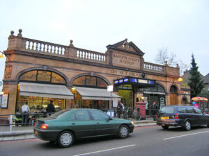 Barons Court Station.