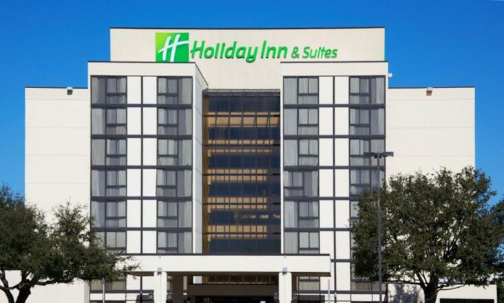 The Holiday Inn Hotel and Suites Beaumont Plaza I-10 & Walden, one of numerous hotels in Beaumont, TX.