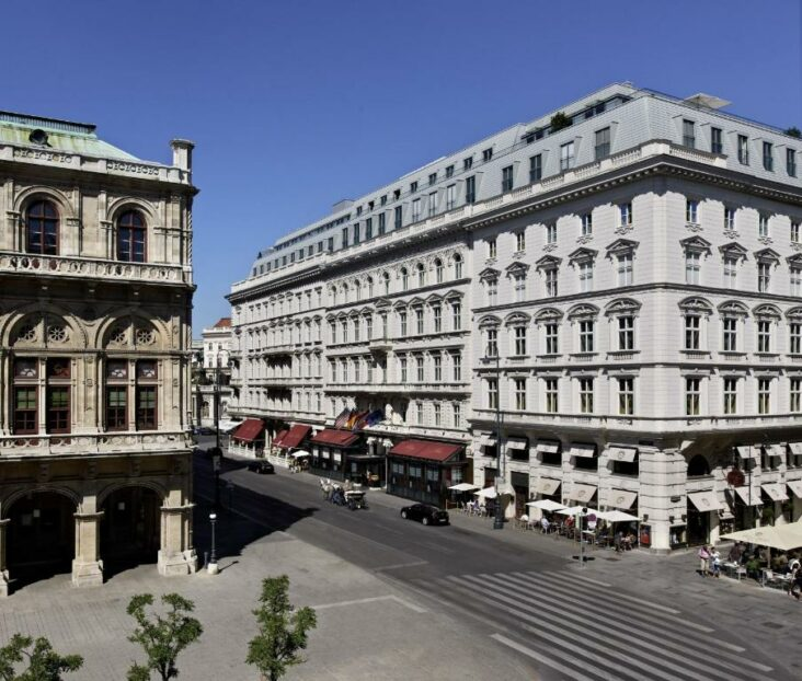 The Hotel Sacher Wien, one of the hotels near the Opera House in Vienna.