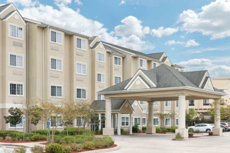 The Microtel Inn and Suites Baton Rouge Airport, one of the hotels near Baton Rouge Airport in Louisiana.