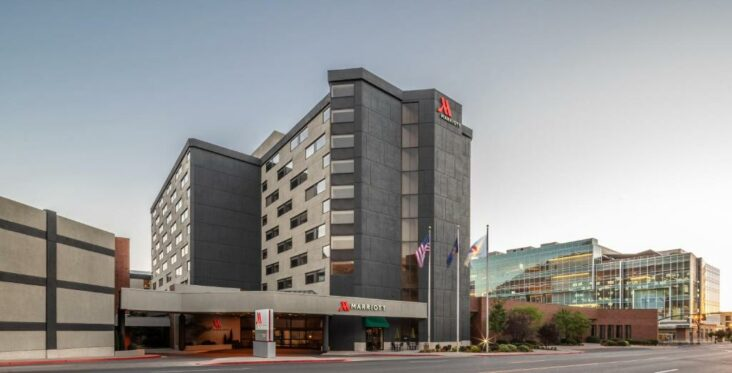 The Provo Marriott Hotel & Conference Center, one of numerous hotels in Provo, Utah.