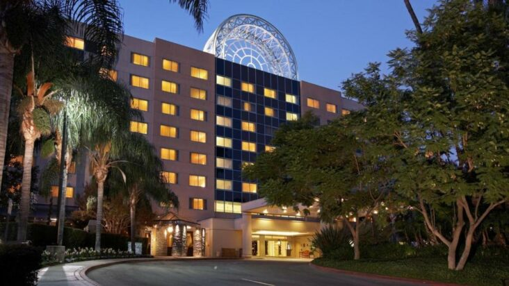 The Sheraton Hotel Fairplex & Conference Center, one of the hotels near the University of La Verne in California.