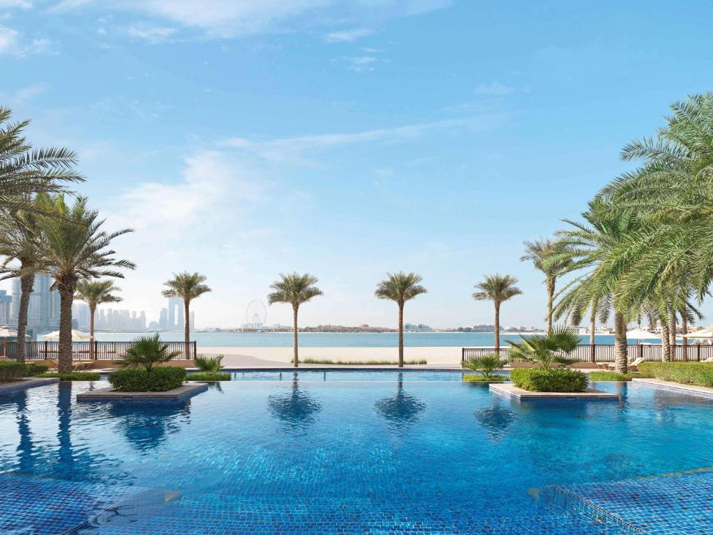 The View from Fairmont The Palm, one of the hotels on Palm Jumeirah in Dubai.