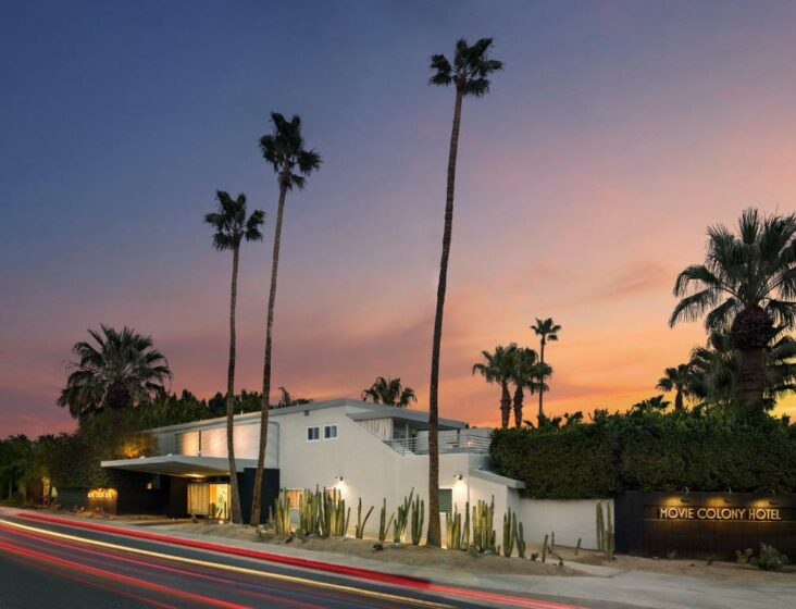 The Movie Colony Hotel, one of a number of hotels in Palm Springs, CA.